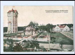 U9032/ Truppenübungsplatz Grafenwöhr Wasserturm, Militärforsthaus AK 1918 WK1