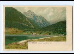 Y14527/ Lautersee gegen Wetterstein bei Mittenwald Litho AK Ottmar Zieher ca1900