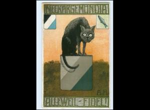 U9050/ Neckargemündia Kater Studentika Litho Ak ca.1910 Katze