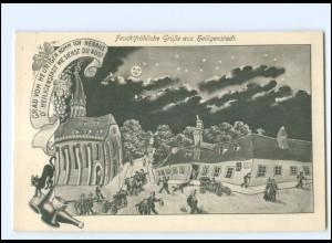U9036-8551/ Feuchtfröhliche Grüße aus Heiligenstadt AK 1914