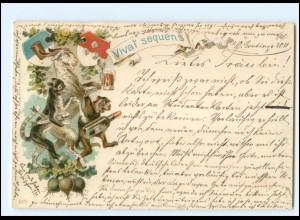 U9052/ Vivat sequens Studentika Litho AK 1898