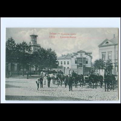 U8964/ Libau Feuerwehr-Station Lettland 1914 AK