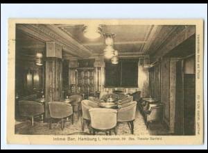 Y14540/ Hamburg Intime Bar Hermannstraße 39 AK 1926