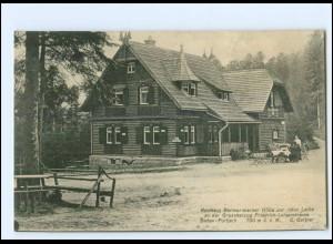 Y14511/ Baden-Forbach Rasthaus Bermersbacher Hütte zur roten Lache AK ca.1910