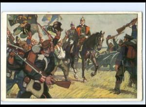 Y14531/ König Wilhelms Ritt um Sedan 1870 Wohlfahrts-Künstler AK 1914
