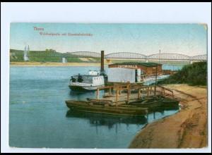 U8998/ Thorn Eisenbahnbrücke Westpreußen AK 1916