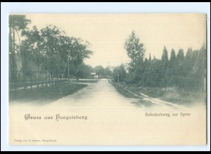 XX009065-155/ Gruß aus Hangelsberg Bahnhofsweg zur Spree AK ca.1900