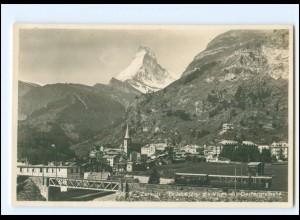 XX009095/ Zermatt Brücke Gornergratbahn Foto AK ca. 1930 Wallis