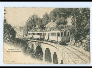 XX009097/ Chemin e fer Montreux-Oberland Bergbahn AK 1907 Waadt