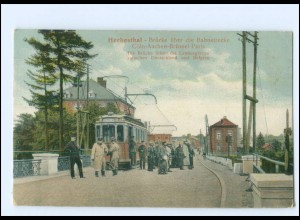 XX008010/ Herbesthal Straßenbahn Grenze Deutschland - Belgien AK 1916