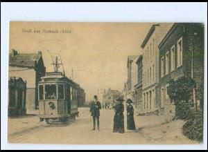 XX008008-5190/ Büsbach bei Stolberg Straßenbahn AK 1919