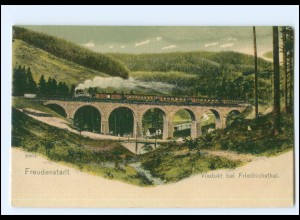 XX007800/ Freudenstadt Viadukt bei Friedrichstal Eisenbahn ca.1900 AK