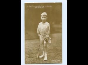 Y14559/ S. Kgl. H. Erbgroßherzog von Sachsen spielt Tennis 1917 Foto AK