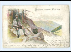 Y14572/ Kaiser Franz Josef als Jäger Jubiläums-Ausstellunf Wien 1898 + SST