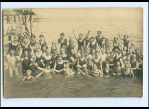 Y14600/ Badeleben Strandleben schöne Foto AK ca. 1925