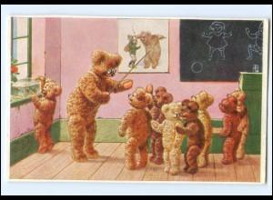 Y14601/ Teddy-Schule AK ca.1930