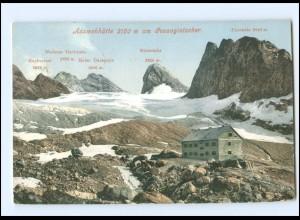 Y14635/ Berghütte Adamekhütte Gosaugletscher Österreich Foto AK 1908