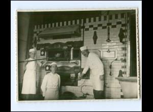 Y14659/ Bäcker Bäckerei Foto 11,5 x 8,5 cm ca.1930 Berufe