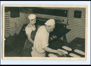 Y14665/ Bäcker Bäckerei AT Brodersen, Flensburg 1955 Foto AK