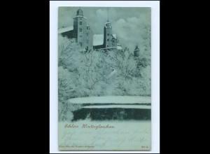 Y14680/ Schloß Hinterglauchau Wintermotiv AK 1901