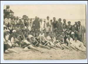 Y14686/ Badeleben Strandleben schöne Foto AK ca. 1925