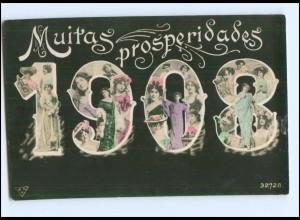 Y14688/ Muritas prosperidades Jahreszahl 1908 Frauen Fotomontage AK 1908