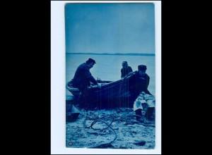 Y14689/ Fischer Fischerboot NPG Foto AK 1906