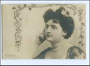 Y14691/ Junge Frau schöne Foto AK ca.1905