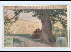 Y14744/ Komponist Schubert Lieder AK Der Lindenbaum ca.1915