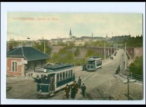 XX008221/ Luxemburg Luxembourg Entrée en Ville Straßenbahn AK
