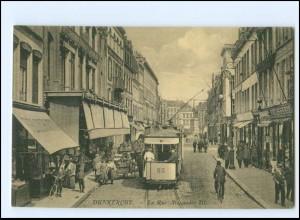 XX008222/ Frankreich Dunkerque La Rue Alexandre III Straßenbahn AK