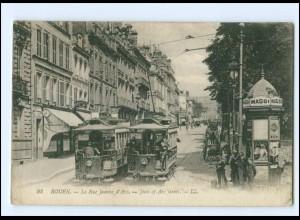 XX008228/ Frankreich Rouen La Rue Jeanne d´Arc Straßenbahn AK