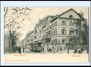 XX008180/ Wiesbaden Taunus-Straße Straßenbahn ca.1900 AK