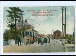 XX009141/ Herbesthal Brücke Grenze Deutschland-Belgien Straßenbahn AK ca.1915