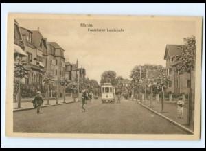XX008187/ Hanau Frankfurter Landstraße Straßenbahn AK