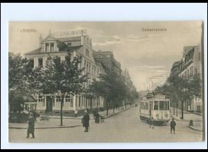 XX008190/ Landau Ostbahnstraße Straßenbahn 1918 AK