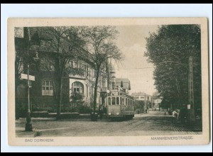 XX008191/ Bad Dürkheim Mannheimerstraße Straßenbahn 1938 AK