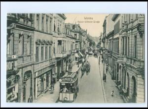 XX008192/ Worms Kaiser-Wilhelm-Straße Straßenbahn 1915 AK