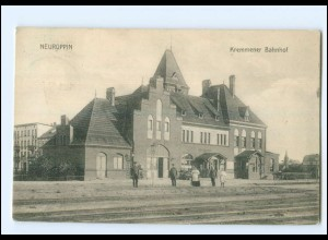 XX008937-168/ Neuruppin Kremmener Bahnhof AK 1913