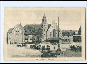 XX008198-184./ Stralsund Bahnhof 1911 AK