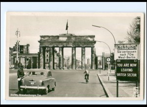 XX009159/ Berlin Brandenburger Tor Zonengrenze Foto AK ca.1955