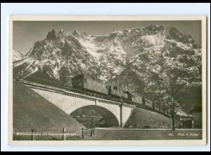 XX009063/ Mittenwaldbahn im Karwewndelgebirge Foto AK 1939