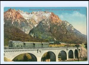 XX009059/ Karwwendelbahn Viadukt Mittenwald Photochromie AK ca.1910