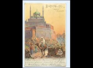 XX009148/ Le Caire Kairo Moschee Mohammed-Ali Litho AK Ägytpen Egypte 1901