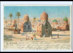 XX009147/ Le Caire Kairo Ägypten Litho AK 1900 Egypte