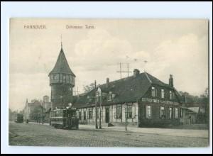 XX008407/ Hannover Döhrener Turm Straßenbahn AK
