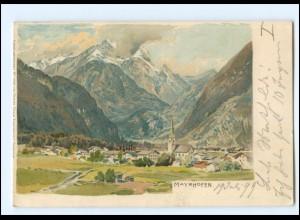 XX009054/ Mayrhofen Tirol Künstler Litho AK Compton 1899