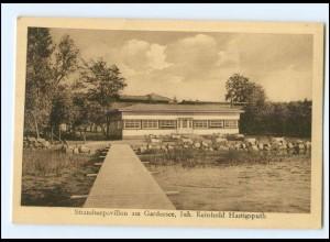 XX009057/ Schmolsin Smoldzino bei Stolp Strandpavillon am Gardersee AK Pommern