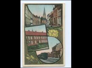 XX009058/ Staden mit Bahnhof Belgien AK 1915