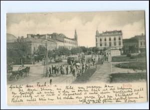 XX009155/ Braila Straßenbahn Rumänien AK 1902